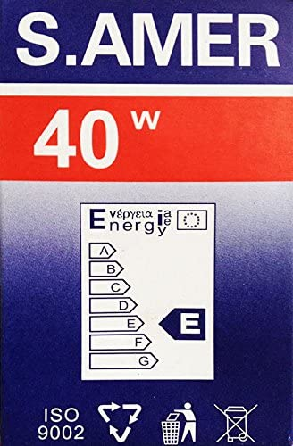 10 x Bombilla 40 Watt transparente E27 Siemens