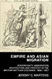 "Jeremy Martens, ""Empire and Asian Migration: Sovereignty, Immigration Restriction and Protest in the British Settler Colonies, 1888–1907"" (UWA Publishing, 2018)"