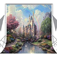 OUYIDA 8X8FT Seamless Fairy Tale Castle Pictorial cloth photography Background Computer-Printed Vinyl Backdrop TP50F(Updated Material)