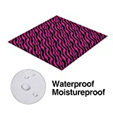 Nomorer Pink Zebra Picnic Blanket Waterproof
