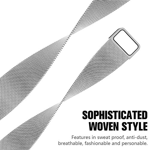 Bands for Apple Watch 38mm 42mm Men and Women Milanese Metal Magnetic Mesh Loop Band for Apple iWatch Series 3 2 1