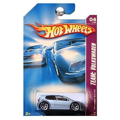 Hot Wheels 2008 132 Team: Volkswagen # 4 of 4 Steel Blue Volkswagen VW Golf GTI 1:64 Scale Blue Volkswagen Golf