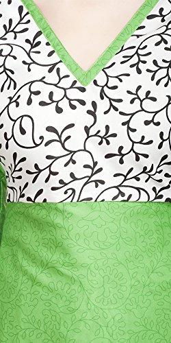 Talla Vestido Divyaemporio Única 3 Para Manga Mujer Túnica Verde 4 Hww8Td
