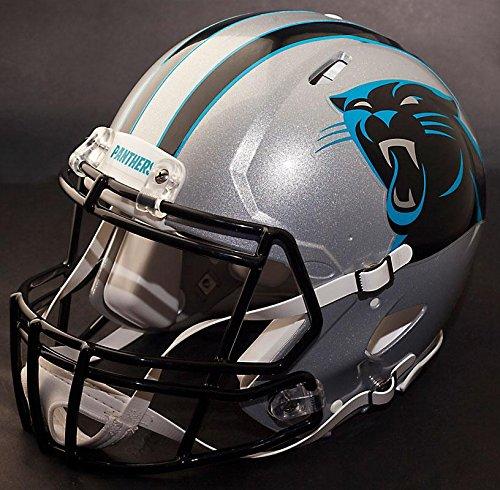 Riddell Replica Panthers Carolina Helmet (Riddell Speed CAROLINA PANTHERS NFL REPLICA Football Helmet with S2BDSP Football Helmet Facemask/Faceguard)