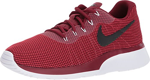 Nike Mens Tanjun Fabric Low Top Lace Up Running Sneaker, Red, Size 10.5
