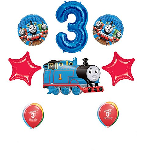 Thomas The Tank Engine Train 3rd Happy Birthday Balloon Set ()