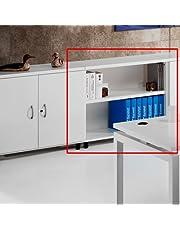 Euromof Armario de Oficina, Bajo, Diafano, 92x42x78 cm. Color Blanco.
