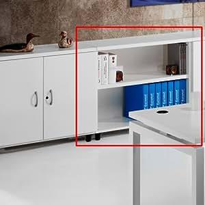 Armario de Oficina, Bajo, Diafano, 92x42x78 cm. Color Peral.