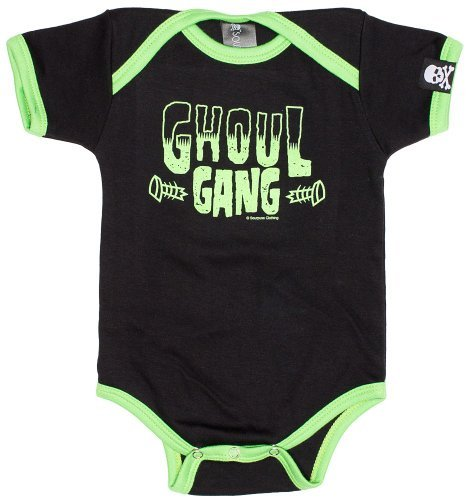 Black & Green Ghoul Gang One Piece from Sourpuss Clothing -