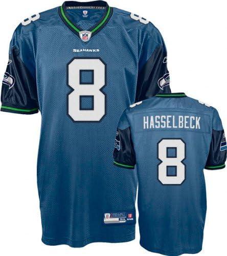 Reebok Matt Hasselbeck Jersey Authentic Blue #8 Seattle Seahawks ...
