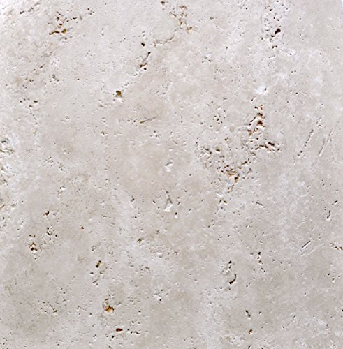 4x4 Honed and Brushed Finish Light Ivory Travertine Tile Floor and Wall