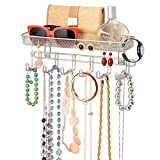 mDesign Fashion Closet Wall Mount Metal Jewelry