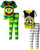 Yo Gabba Gabba Little Boys Brobee and Plex Short Sleeve Four-Piece Pajama Set