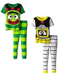 "Yo Gabba Gabba Little Boys' Toddler ""Brobee & Plex"" 4-Piece Pajamas"