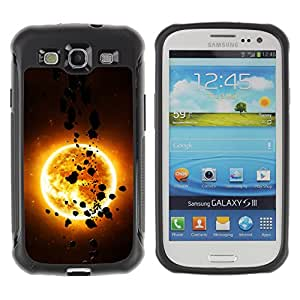 CAZZ Rugged Armor Slim Protection Case Cover Shell // The Sun & Asteroids // Samsung Galaxy S3
