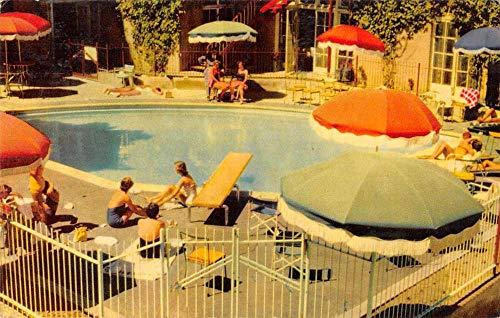 San Mateo California Benjamin Franklin Hotel Swimming Pool Postcard JA4740737