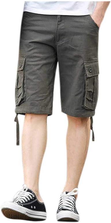 Pantalones Cortos para Correr Hombre Hombres De AlgodóN ...
