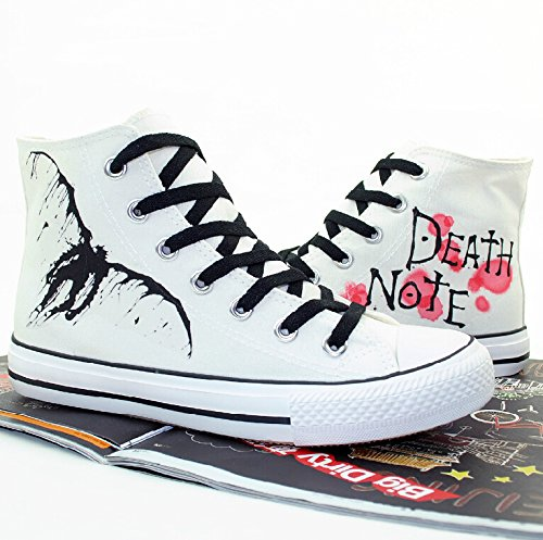 Death Note Cosplay Sko Canvas Sko Joggesko Hvit