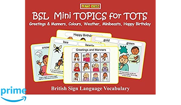 Bsl mini topics for tots greetings manners colours weather bsl mini topics for tots greetings manners colours weather minibeasts happy birthday british sign language vocabulary lets sign early years cath m4hsunfo