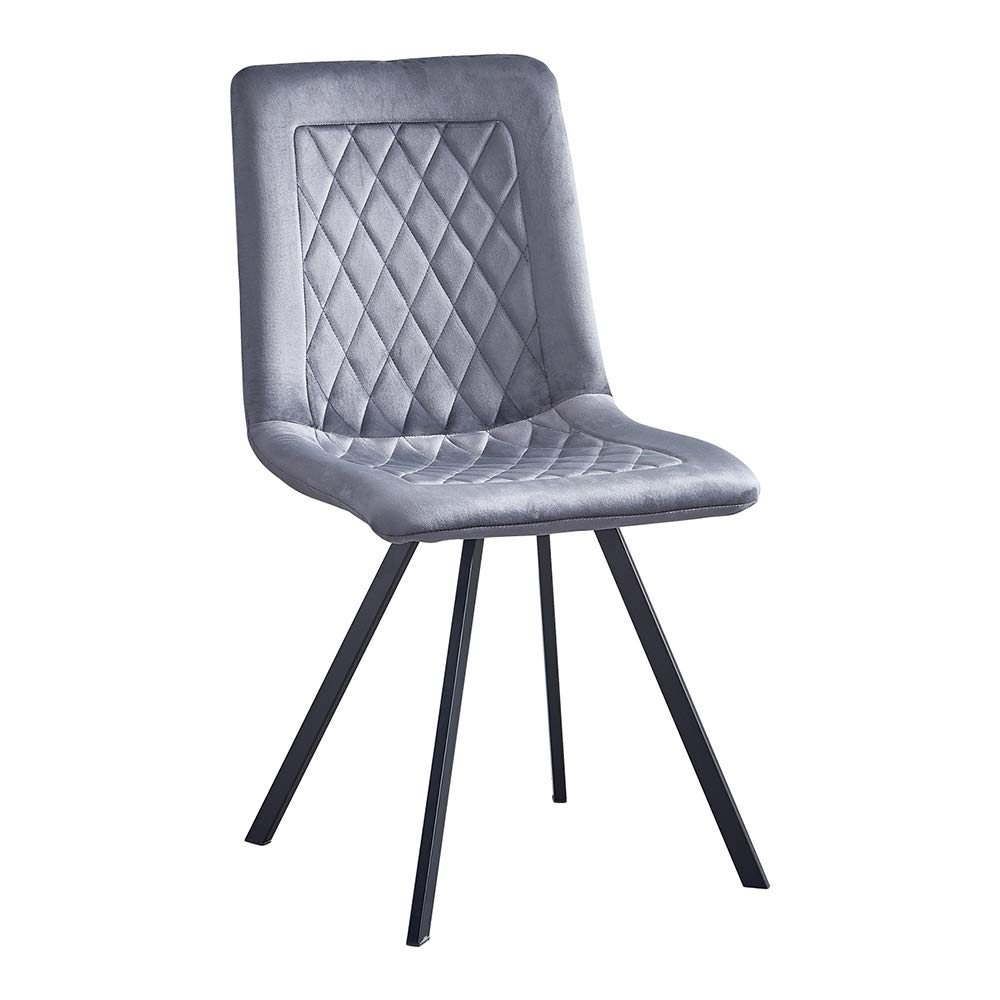 BOJU Grey Kitchen Dining Room Chairs Set of 5 Tufted Velvet Upholstered for  Restaurant Occasional Accent Office