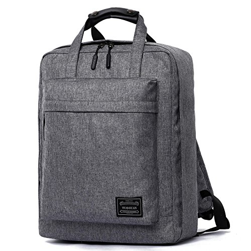 gohigh lienzo han edición College viento bolso de negocios, multifuncional deporte hombres de mochila, Gris negro gris
