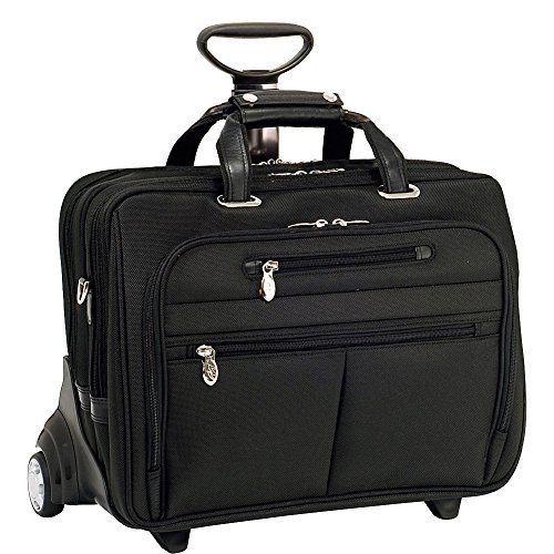 mcklein-usa-76535-ohare-156-nylon-checkpoint-friendly-wheeled-laptop-briefcase-18x925x145-black