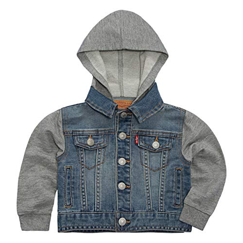 - Levi's Baby Boys Hooded Trucker Jacket, Vintage Waters, 12M