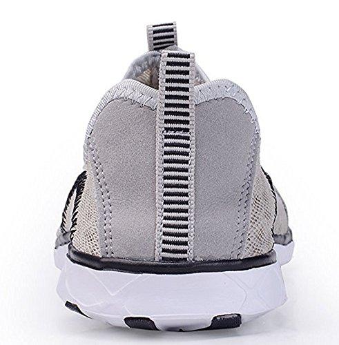 ECOTISH Herren Wasser Schuhe Leicht und Atmungsaktiv Mesh-Wasserdichtes Slip-On, Schnelltrocknende Multifunktions -Turnschuhe (42 EU/8 UK, Grau)