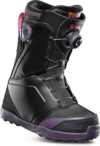 ThirtyTwo Women's Lashed B4BC Double Boa '18 Snowboard Boots, Size 5.5, Black/Purple by ThirtyTwo