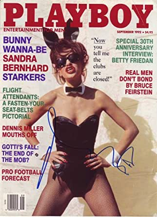Sandra Bernhard in-person autographed Playboy Cover
