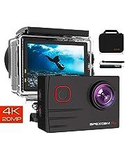 【2019 NEU】 Apexcam Pro Action Cam 4K 20MP Sportkamera WiFi Unterwasserkamera 2.4G Fernbedienung Wasserdicht 40m 2.0 Zoll LCD Bildschirm 170 ° Weitwinkel mit Zwei 1200mAh Batterien externes Mikrofon