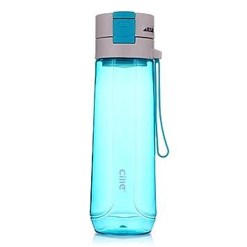 sprorts plástico botella de agua de gran capacidad botella de agua, zumo de taza de