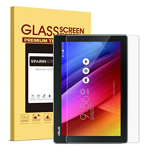 ASUS ZenPad 10 (Z300M/Z300C/Z300CL/Z300CG) 10.1 Inch Screen Protector [Tempered Glass], SPARIN Ultra Clear High Definition Tempered Glass Screen Protector for ASUS ZenPad 10 (Z300C / Z300M) (Asus 10 Tablet Screen Protector)