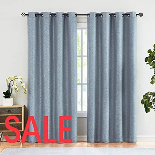 Linen Window Curtains Chevron 96-inch Long for Master Bedroom Blackout Linen Texture Drapes Embossed Thermal Insulated Curtains 2 Panels