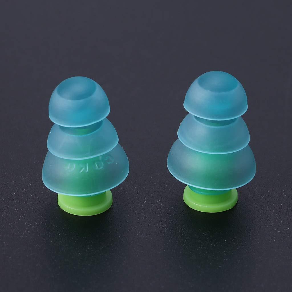 Freshsell 1 Paire de Bouchons doreille en Silicone Anti-Bruit r/éutilisables