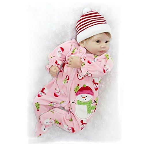 Nicery Reborn Puppe, 55 cm, hartes Silikon, für Kindergeburtstage, Schneemann A3UK