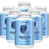 Natrogix 40 Billion Probiotics CFUs Organism Viable Probiotic, Digestive Aids with Multiple Strains of Probiotics, Digestive Health Support, Immune System Booster (180 Capsules) * (6Bottles)