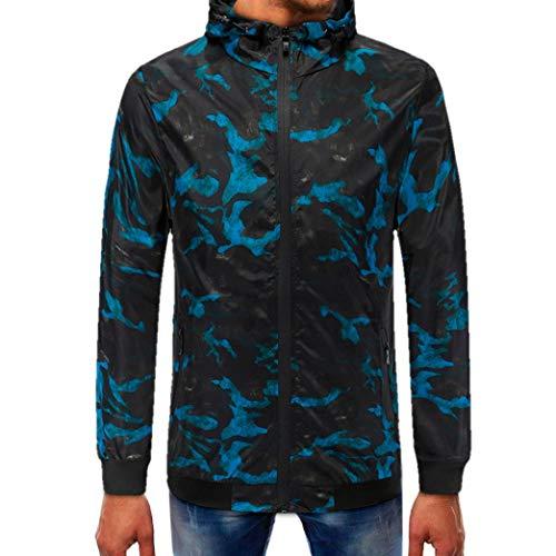 Makeupstore Sweatshirts for men hoodies, Camouflage Pullover Long Sleeve Hooded Sweatshirt Tops Blouse by Makeupstore