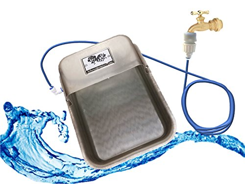 Nelson Automatic Outdoor Dog Water Bowl - Garden Hose Faucet Quick Connect Kit (Aluminum Silver)