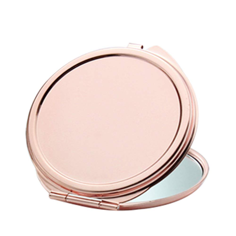 YaptheS Portable Purse Mirror Rose Golden Makeup Compact Mirror Folding Pocket Mirror for Traveling, Camping-Egg Shape Tools Make You Beautiful