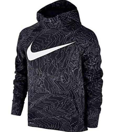 NIKE Therma Boys Printed Training Fleece Hoodie Pullover (xl) -