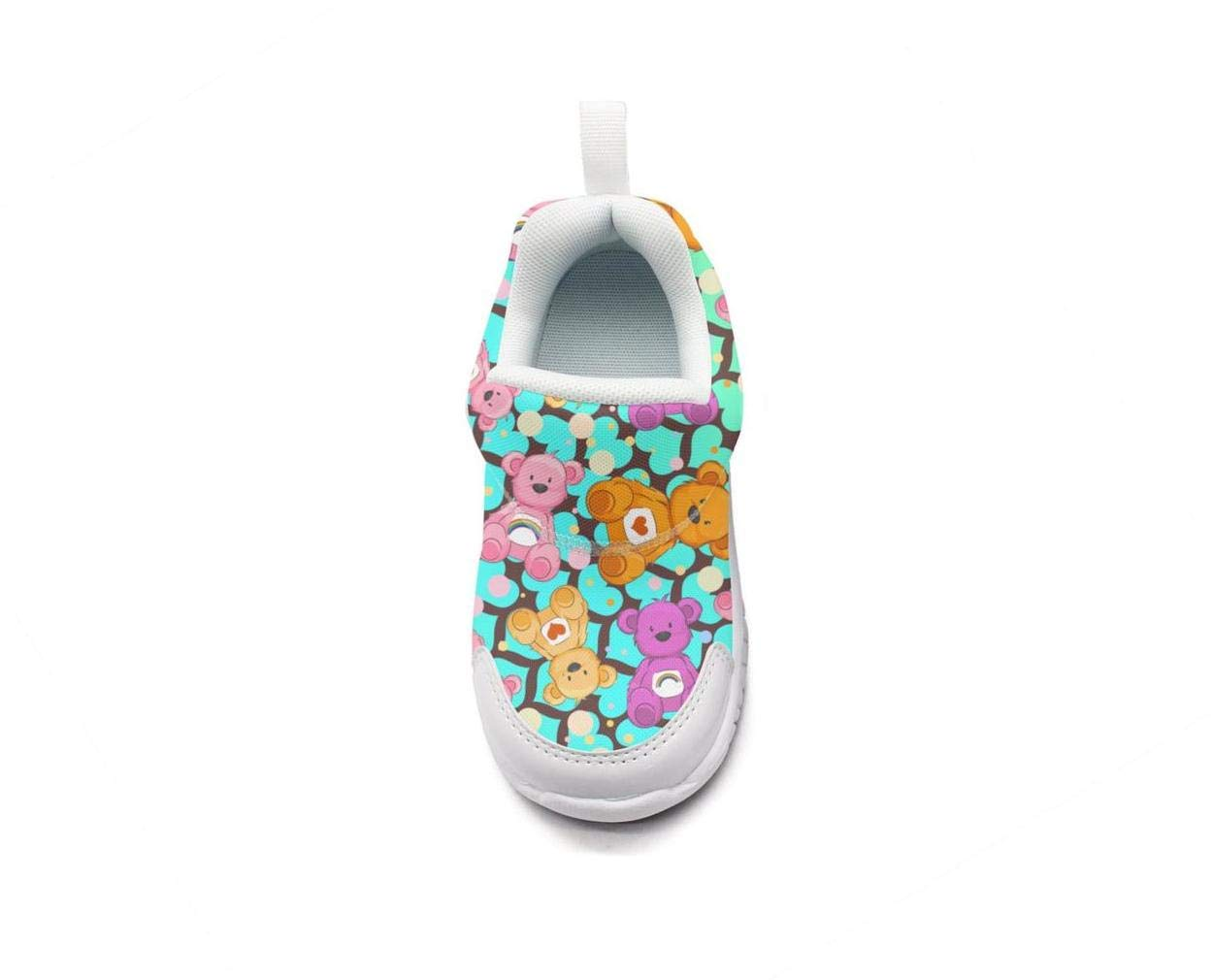 ONEYUAN Children Sugar Bear Rainbow Color Kid Casual Lightweight Sport Shoes Sneakers Walking Athletic Shoes