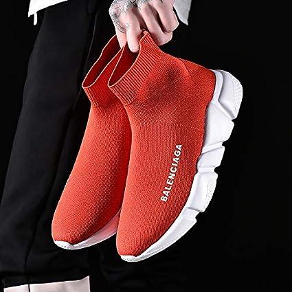 Liuxc Zapatillas de deporte Calzado deportivo transpirable, zapatos perezosos para hombres para ayudar a estirar los calcetines zapatos par tejer deportes ...