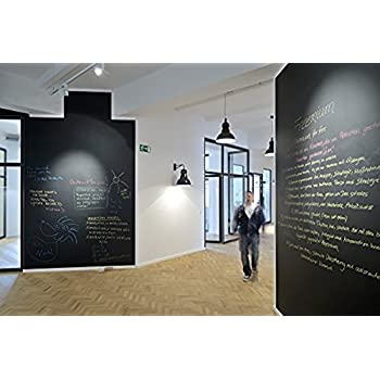 Fancy-fix Extra Large Chalk Board Decal Wall Sticker,Chalkboard Contact Paper,Adhesive Blackboard Ideal for School Home Office, 5 Chalk Marker(42 inch by 78.7 inch)