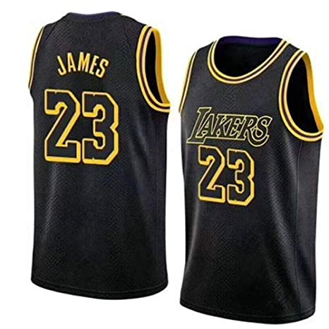 official photos 6a3ee 23235 VICTOREM LeBron James #23 Men's Basketball Jersey - NBA Lakers, New Fabric  Embroidered Swingman Jersey Shirt (Size: M-XXL)