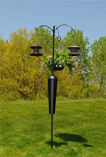Squirrel Stopper Olympic/Shenandoah Bird Feeder Post w/ 3 Hanging Stations