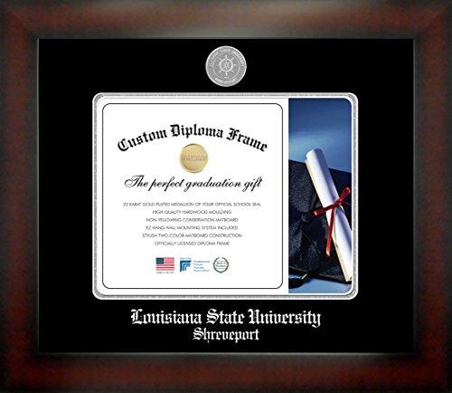 Louisiana State University Shreveport 8½ x 11 Mahogany Finish Infinity Diploma Frame by Celebration Frames by Celebration Frames