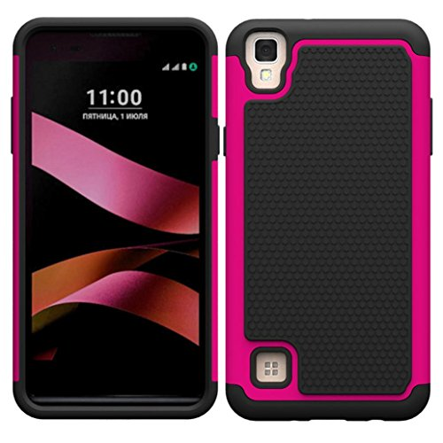 Sikye Shockproof Hard Hybrid Heavy Duty Case Stand Cover Drop Protection For LG X Style/Tribute HD (One Size, (Tribute Hybrid)