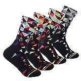 6. Compressprint Men and Women Cycling Socks 4 Pairs Sports Socks Comprssion Running Socks (Mixed Color) (Mixed Color) ...
