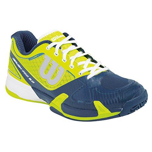 Wilson Rush Pro 2.0 Clay Court Solar, Unisex adultos Zapatillas de tenis, Lima / Verde / Blanco, 42